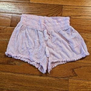 No boundaries small pink tassel shorts